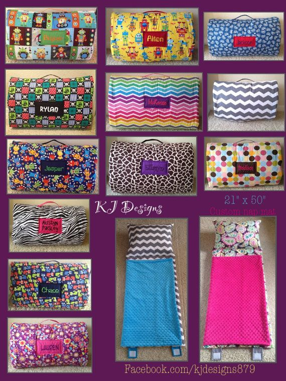 Pre-school nap mat for Camilla, custom made.    CHOICE Of FABRIC Child / Toddler Nap Mat new & by KJBabyDesigns, $42.50