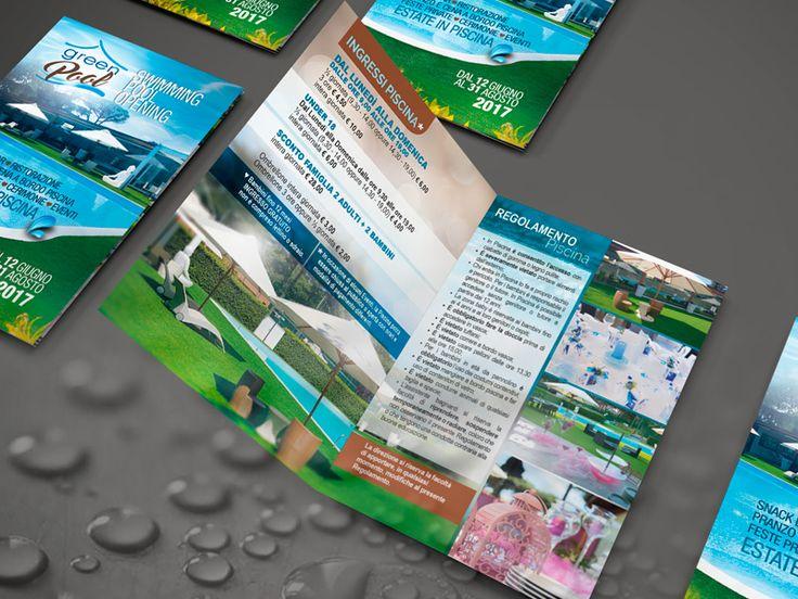Creare e Comunicare | web agency Roma - Brochure Green Pool | Brochure di presentazione al pubblico dello spazio piscina del centro sportivo Green House