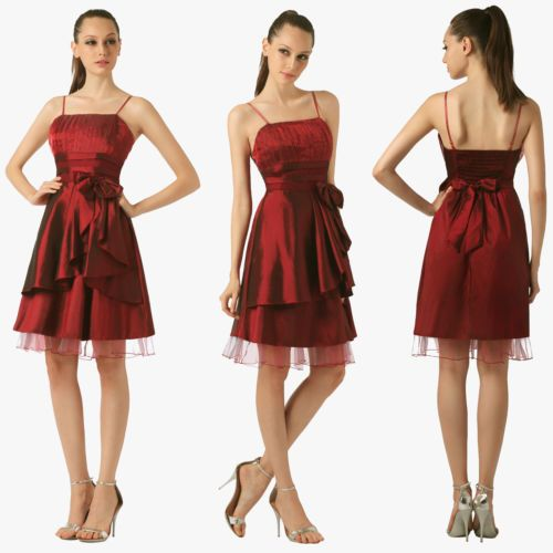 Taffeta Evening Party Prom Cocktail Dress Bridesmaid Reception Dress Size 2 14 | eBay