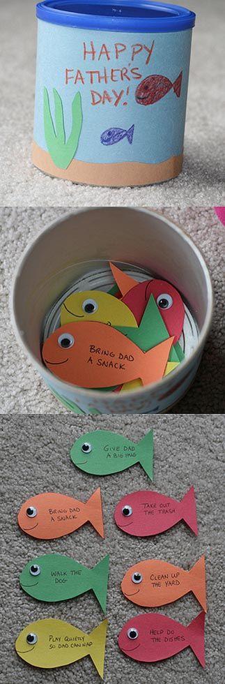 Lembrancinha - lata com peixinhos para o papai - Pra Gente Miúda