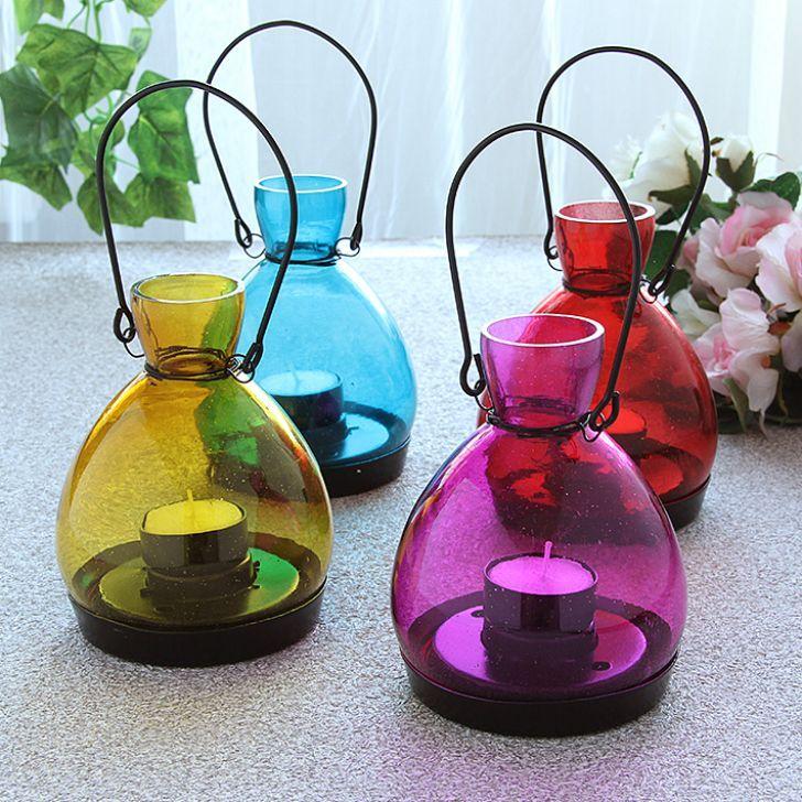 Lumina Classic Lantern Set of Four Pieces - FabFurnish.com-Home-decor-candles-Diwali