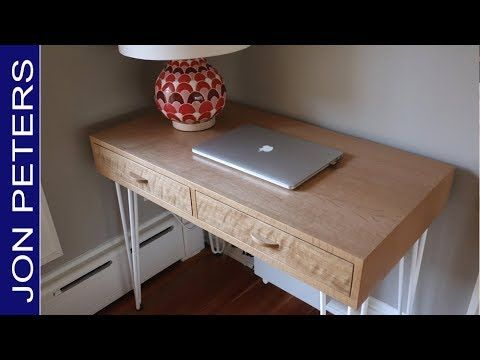 Awesome How To Make This Beautiful White Oak Modern Writing Desk Download Free Architecture Designs Ferenbritishbridgeorg