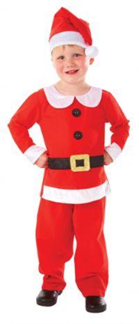 Noel Çocuk Kostümü, Lüks 3-5 Yaş Kostümlü Parti, Kıyafet Balosu, Yılbaşı / Yeniyıl Temalı Partiler için ideal kostüm.  umuşak kumaştan üretilen bu klasik Noel Baba kostümünün ceketi peluş kürk bordürlü ve kemer tokalıdır. Kostüme şapka, ceket, pantalon ve kemer dahil, resimde görülen diğer aksesuarlar hariçtir.
