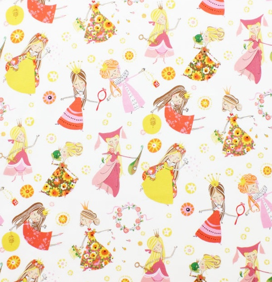 Once Upon a Time AH Fabric Princess Fair Maidens Magical Kingdom on Cream