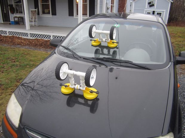 Kayak Car Topping Helper (because They Can Be Heavy)