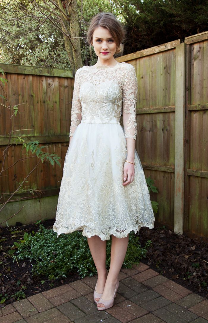Tiny Twisst lace cream dress