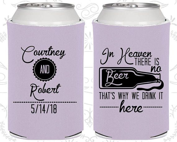 Personalized Can Coolers are the perfect keepsakes for your friends to remember your special day. Cheers to a fun and memorable wedding day! ★ HOW TO PLACE AN ORDER ★ ------------------------------ 1. Choose Quantity / Price and Product Color 2. Add to Cart 3. Include the following in