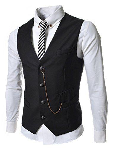 250 kr. (Findes også i grå, lysegrå, rød og hvid) (NKGVE) Slim Fit Chain Point 4 Button Vest Waist Coat BLACK US L(Tag size XXL) Nearkin http://www.amazon.co.uk/dp/B018JLSXB4/ref=cm_sw_r_pi_dp_sEm3wb0D8QSCK