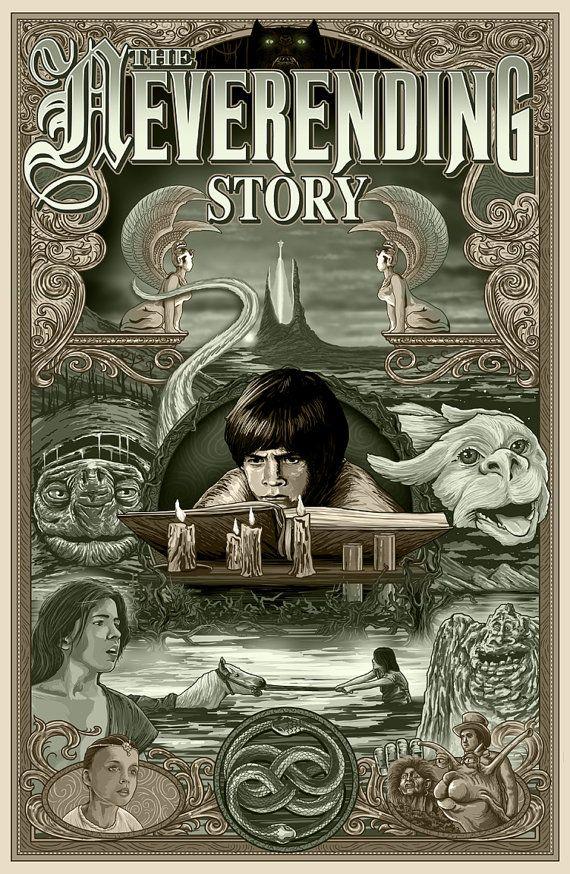 The Neverending Story Print by MichaelBarnardArt on Etsy