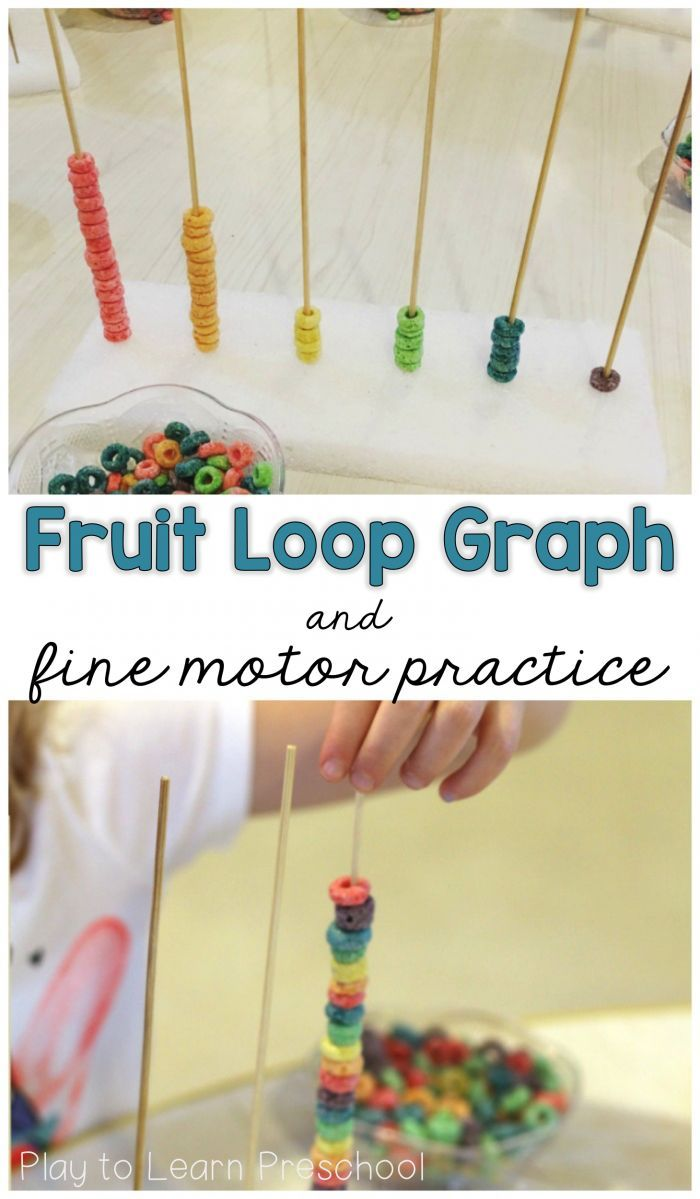 Fruit Loop Graph and Fine Motor Practice (Play to Learn Preschool)