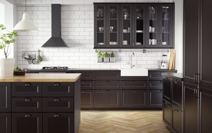 Klasyczna Czarna Kuchnia Kuchnia Kitchen W 2019 Kuchnia Ikea