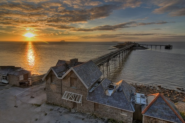Birnbeck Pier - Weston Super Mare by michaelbak, via Flickr