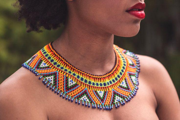 Handmade Necklace. Indigenous Embera, Colombian culture de DEVIhandmade en Etsy
