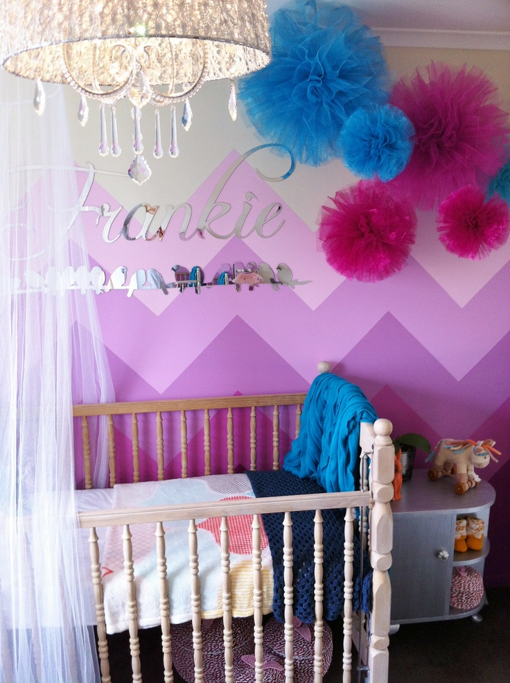 baby girls room  chevron wall my girls room pinterest baby girl room decorating ideas pinterest baby girl room ideas pinterest