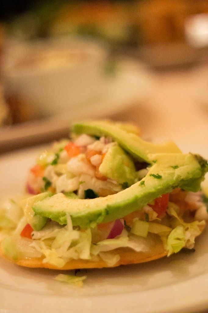 The Ceviche Tostada was one of our favourite dishes. It was fresh with lots of citrusy lime, fish, avocado and tomato, all topping the crunchy fried tortilla. It did include lettuce which may not be traditional but it did add a freshness and crunch to the dish. A great entree and way to start the meal.