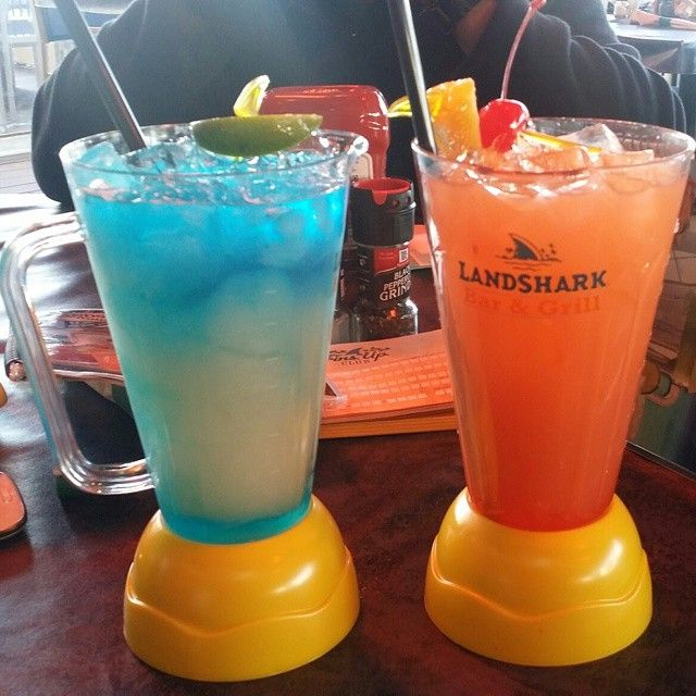 Landshark Bar and Grill, in Myrtle Beach, South Carolina - tropical drinks, great food, music, and don't forget the spectacular view of the Atlantic!  Click on the pin for more info and list of other Myrtle Beach, SC oceanfront/waterfront restaurants!  (Photo via Instagram By @tarakathlene)