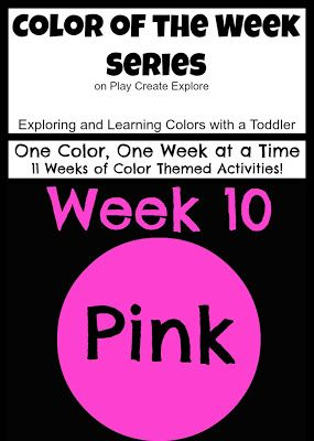 Color of the Week: Pink. Activities and ideas for exploring and learning about the color pink.