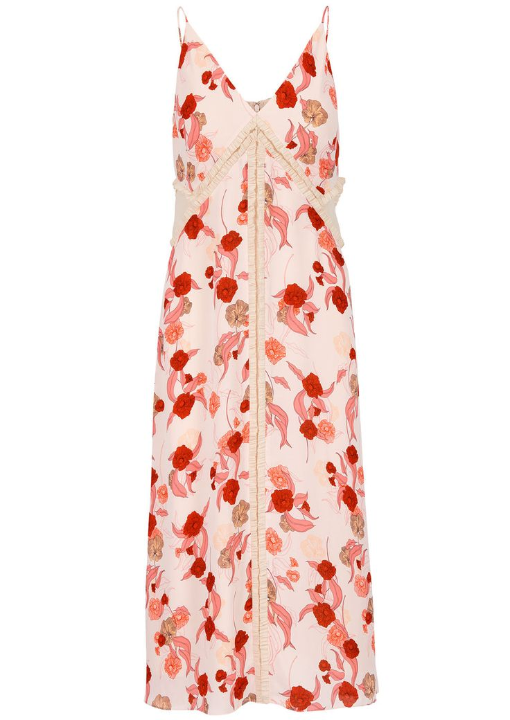 Poppy Print Paneled Dress - Thakoon