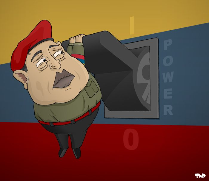Hugo Chavez is not only clinging on to life, but also to power.