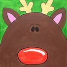 Rudolph the Red Nosed Reindeer painting