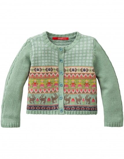 Katie Knitted Cardigan Green, Oilily Fall 2014