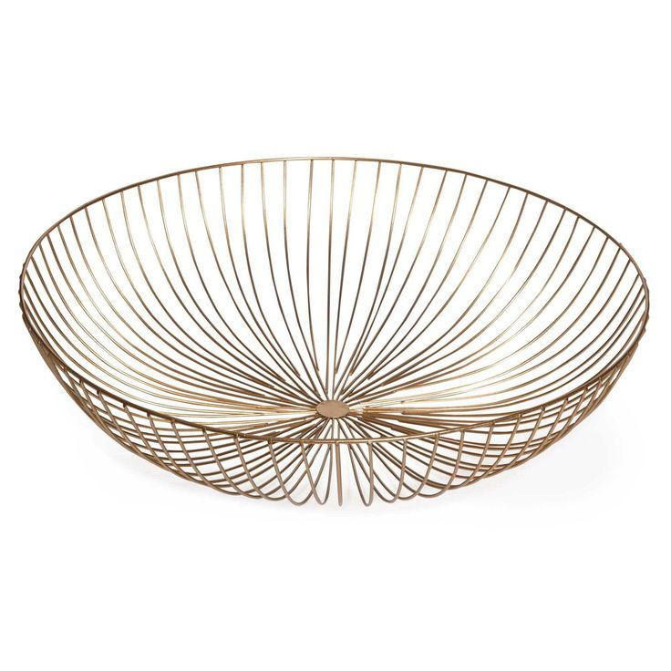 URBAN GARDEN gold metal fruit basket