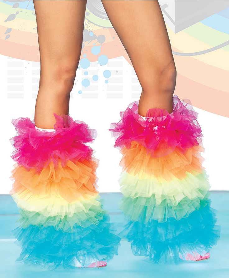 Rainbow Tutu Leg Warmers. I think I can safely say, I know don't have to waste $16 on fluffies anymore. XD