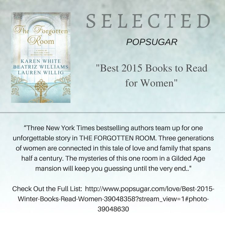 Excited that THE FORGOTTEN ROOM is included on this list!