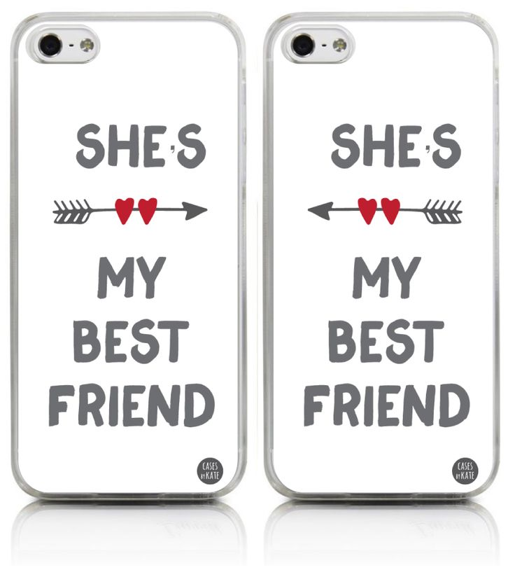 "Best Friends Case - She's My Best Friend (""Right"" Side) - Cases by Kate"