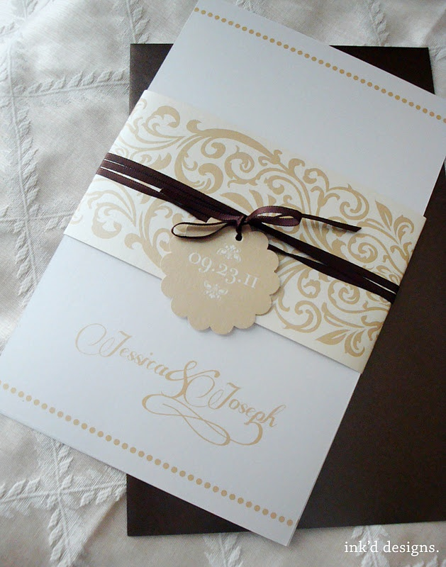 Thick belly band Wedding PaperWedding CardsWedding