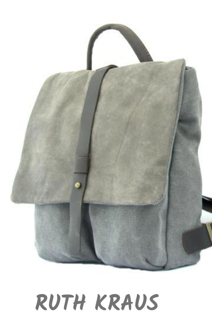 2cf29f478ac2 Small Grey Canvas Rucksack in 2019