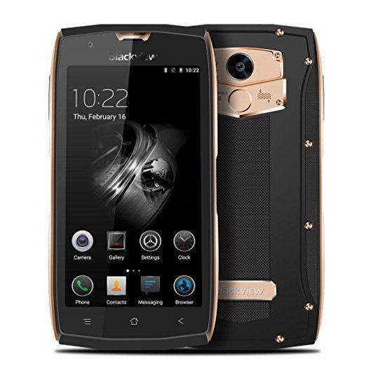 [Lacaca Negozio]Blackview BV7000 PRO 4G Android 6.0 Smartphone, Ultra Slim cm di Vetro Gorilla Glass IP68 4GB Ram 64GB Dal Subacqueo / Shockproof / Dustproof Outdoor Octa Core Smartphone 8MP 13MP Telecamera GPS + Impronta (Oro)