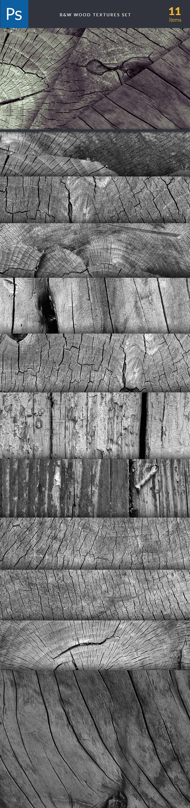 B&W Wood textures are part of The Ultimate Textures Bundle. Find and buy them here: https://www.inkydeals.com/deal/the-ultimate-textures-bundle-2/