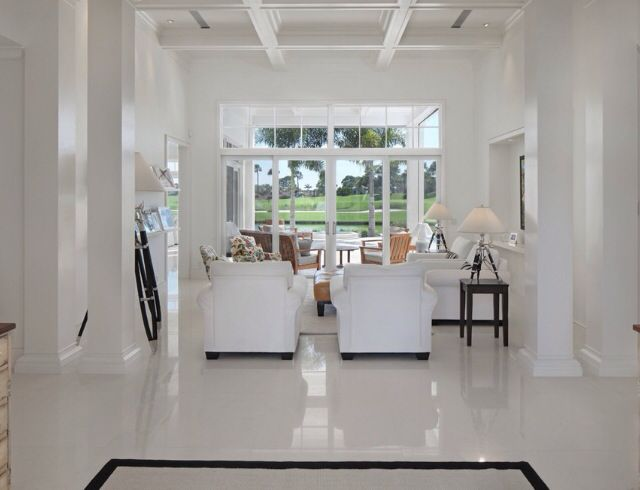 Polished White Concrete Floor Concept Capri Istanbul