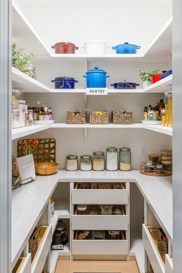 our organized kitchen pantry tour video see what we keep in our well stocked pantr in 2020 on kitchen decor organization id=61822