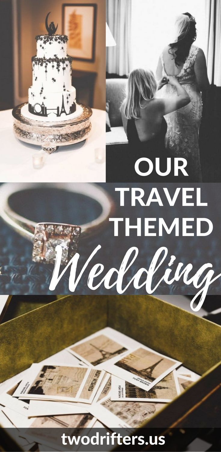 Our Travel Themed Wedding in Asheville, North Carolina - a wedding reception fit for adventurers and travel lovers