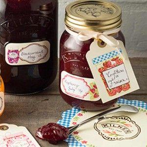 Zawieszki na słoiki i butelki (etykiety) Kilner