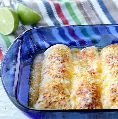 Honey Lime Chicken Enchiladas. Totally making this for dinner this week!