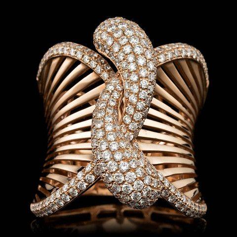 18K ROSE GOLD Ring. 1.20CT DIAMOND RING - IMPERRION™ .