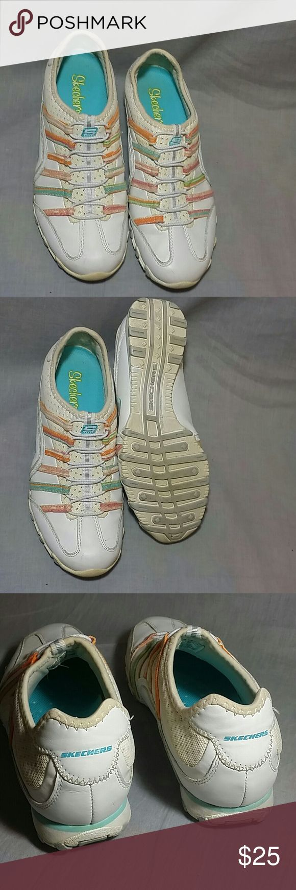 Women's Skechers Slip-on Shoes Leather 7 M Multi-color Item is in a good condition, (please check my bundle discount thanks for visiting). Skechers Shoes Sneakers