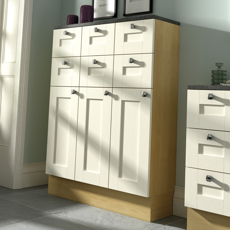 Picture Gallery For Website Shades Bathrooms close up of the Ivory painted door fitted bathroom furniture Savina