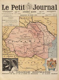 """""""Le Petit Journal"""", număr dedicat României, având pe prima pagină harta României Întregite, 28 martie 1920 - Licitația Jubileu - Casa Regală la 150 de ani #208/2016 - Arhivă rezultate"""