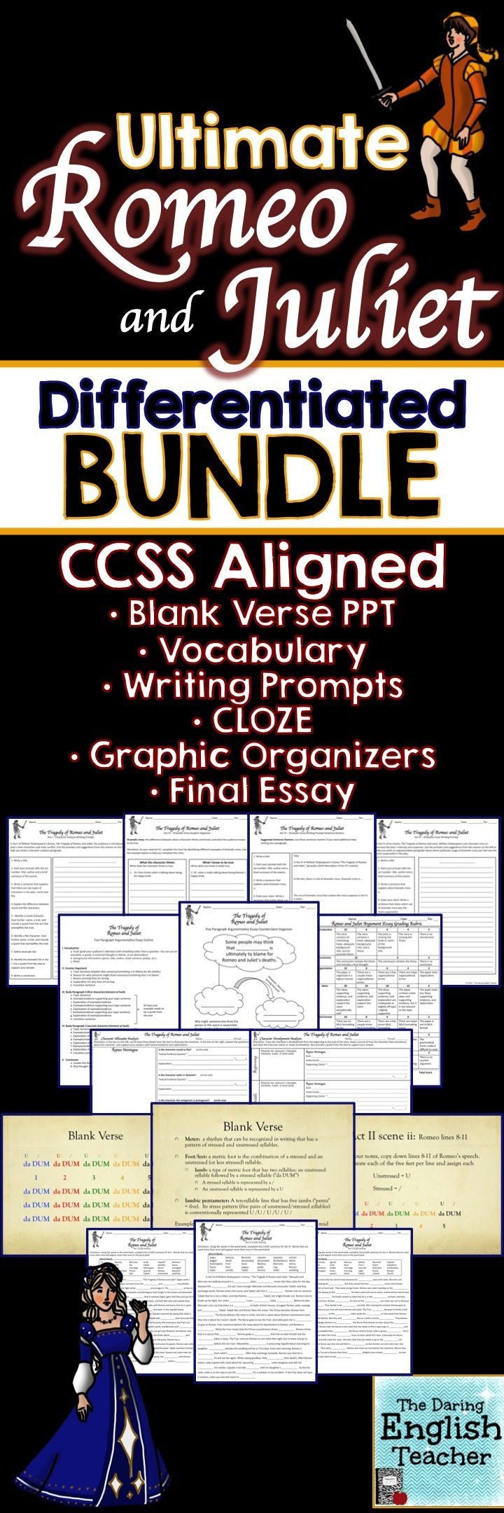 best ideas about high school writing prompts recently updated this romeo and juliet differentiated bundle includes everything you need