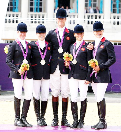 Team GB Medals 2012  02. Equestrian Team (Tina Cook, William Fox-Pitt, Mary King, Zara Philips and Nicola Wilson) - SILVER  (Equestrian: Team Eventing)