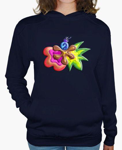 Jersey con capucha de mujer Explosión de Color - Hooded jersey for woman Color Explosion - #Shop #Gift #Tienda #Regalos #Diseño #Design #LaMagiaDeUnSentimiento #MaderaYManchas #Woman #Mujer #jersey #Cool #colors #autum #otoño #winter #invierno