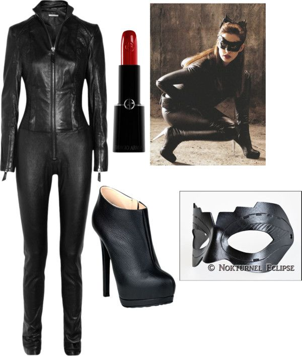 """Catwoman halloween costume"" by katelynreynolds on Polyvore"