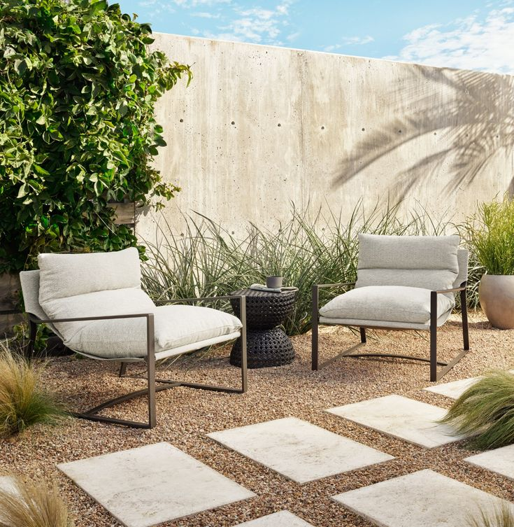Avon Outdoor Sling Chair Taber, Four Hands Home Outdoor Furniture