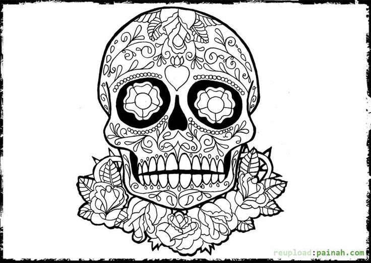 224 mejores imágenes de Sugar scull coloring en Pinterest | Cráneo ...