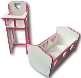 Childs cot & high chair