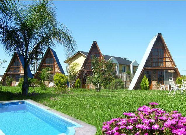 Planos de Cabaña o Casa Alpina de 48 m2